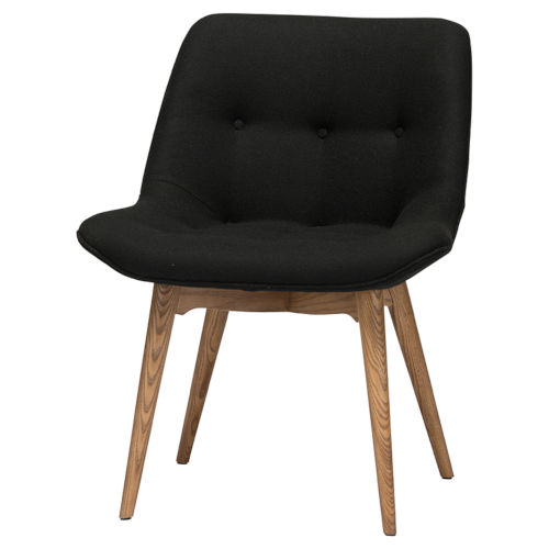 Brie Black and Walnut Dining Chair