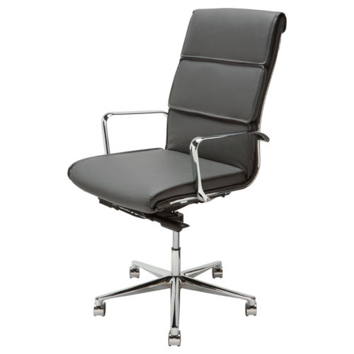 Lucia Black and Silver Office Chair