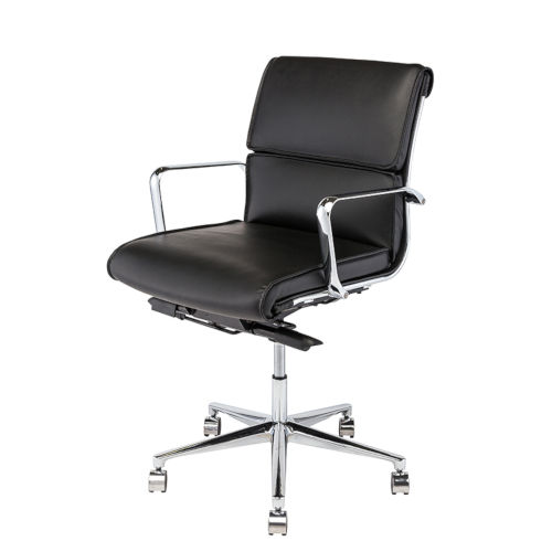 Lucia Matte Black and Silver Office Chair