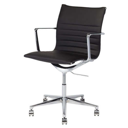 Antonio Black and Silver Office Chair