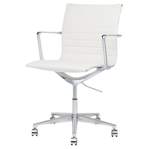 Antonio White and Silver Office Chair