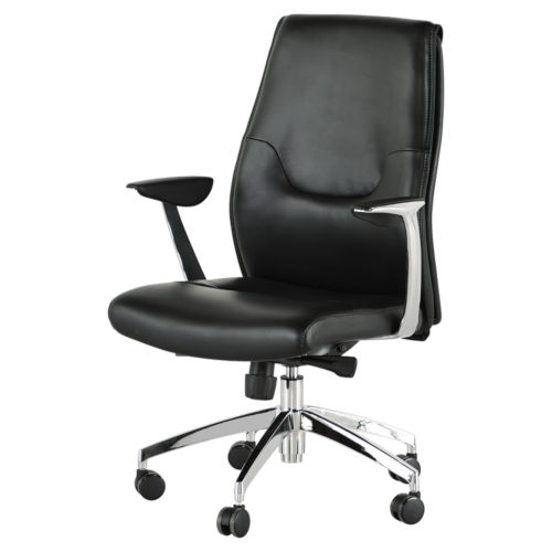 Klause Black and Silver Office Chair