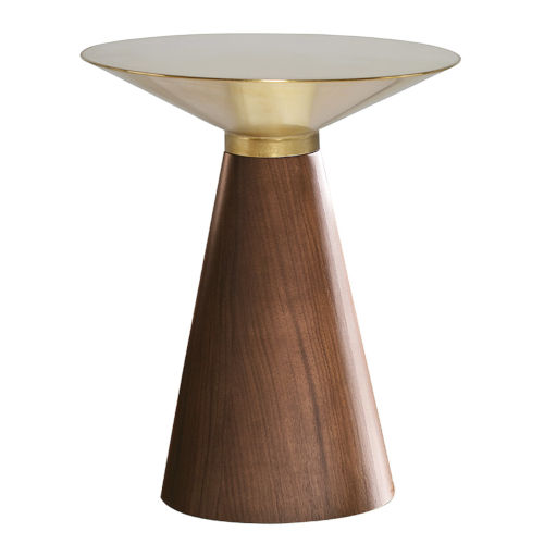 Iris Gold and Walnut Side Table