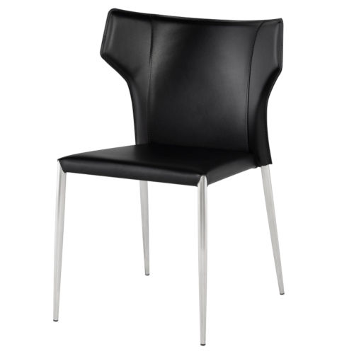 Wayne Black and Silver Dining Chair