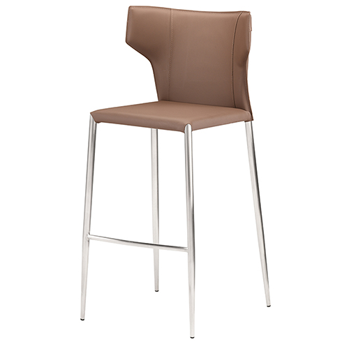 Wayne Matte Mink and Silver 42-Inch Bar Stool