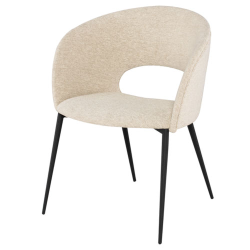 Alotti Beige and Black Dining Chair