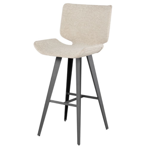 Astra Beige and Black Bar Stool