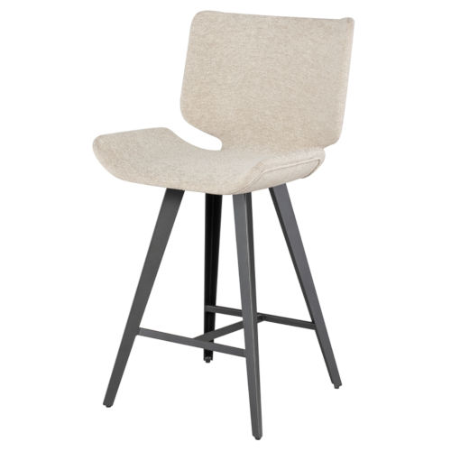 Astra Beige and Black Counter Stool