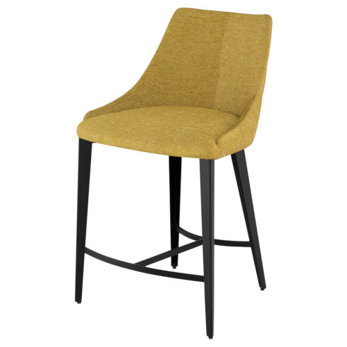 Renee Yellow and Brown Counter Stool