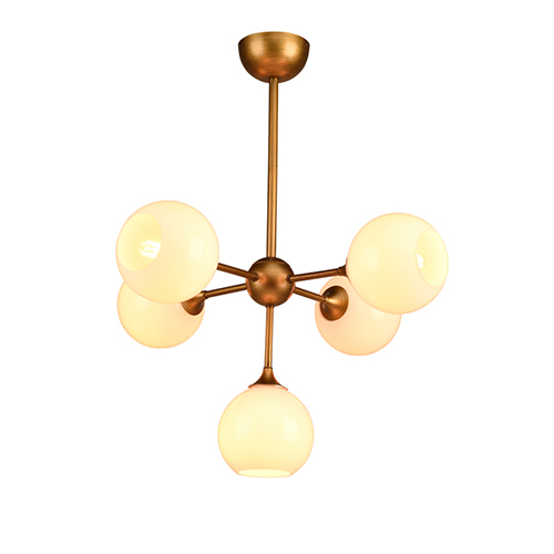 Niklas Brass Five-Light Pendant