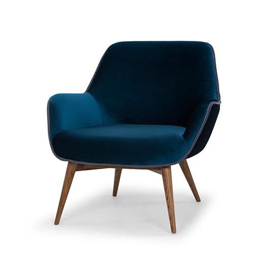 Gretchen Matte Midnight Blue Chair