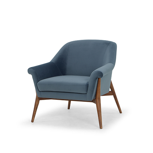 Charlize Matte Dusty Blue Chair
