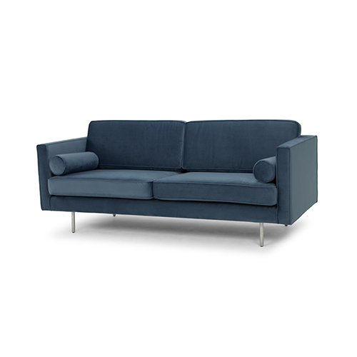 Cyrus Matte Dusty Blue Triple Seat Sofa