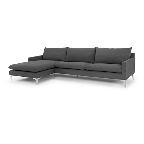 Anders Matte Slate Grey Sectional