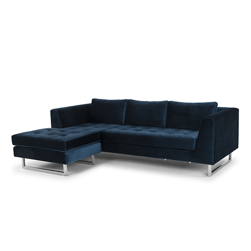 Matthew Matte Midnight Blue Sectional