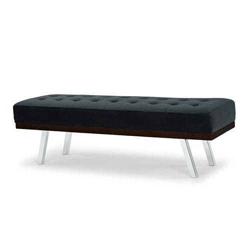 Rikard Matte Shadow Grey Occasional Bench