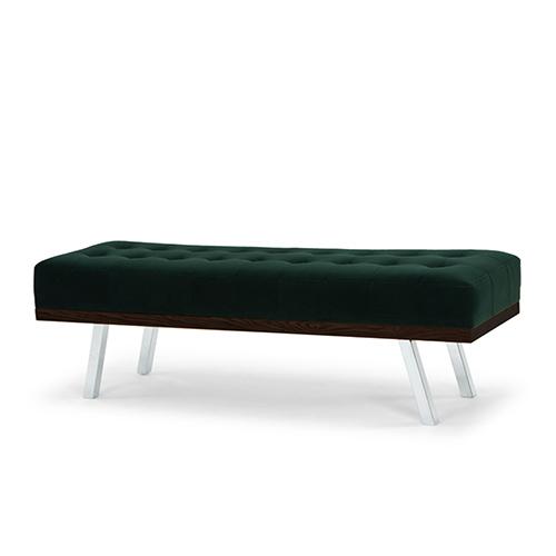 Rikard Matte Emerald Green Occasional Bench