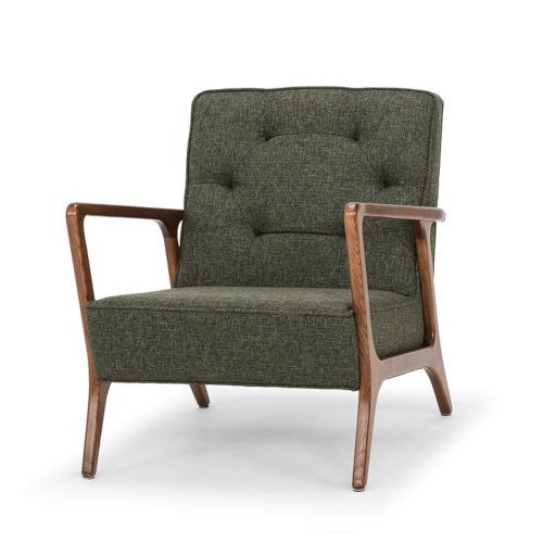 Eloise Hunter Green and Walnut Occasional Chair