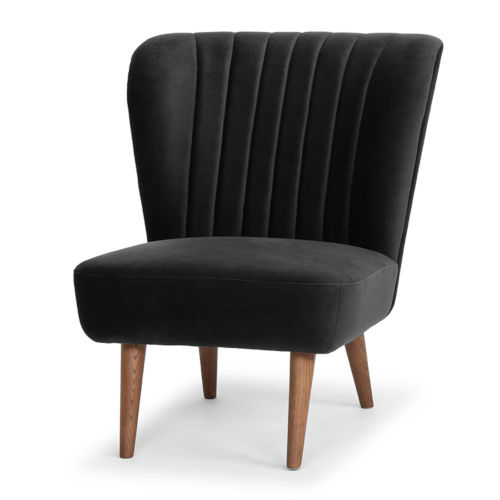 Alicia Black and Brown Occasional Chair