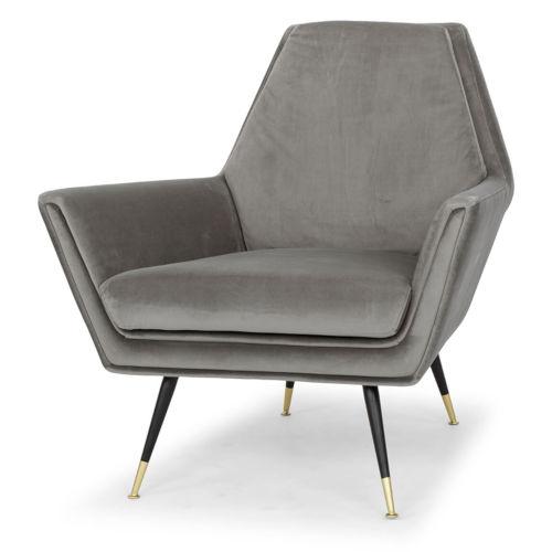 Vanessa Smoke Gray and Black Occasional Chair