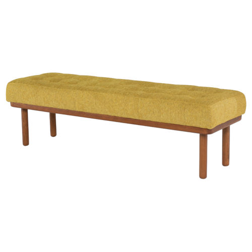 Arlo Yellow and Brown Bench