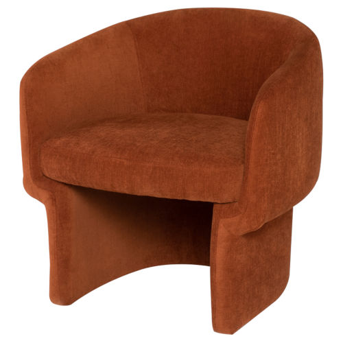 Clementine Terracotta Occasional Chair