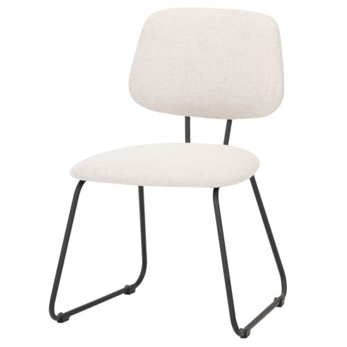 Ofelia White and Black Dining Chair