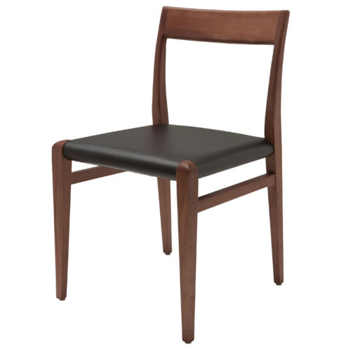 Ameri Walnut and Black Dining Chair