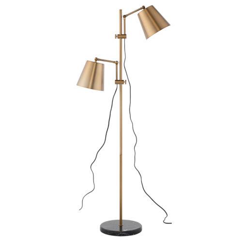 Marki Brushed Gold Two-Light Floor Lamp