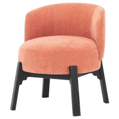 Adelaide Nectarine and Black Dining Chair