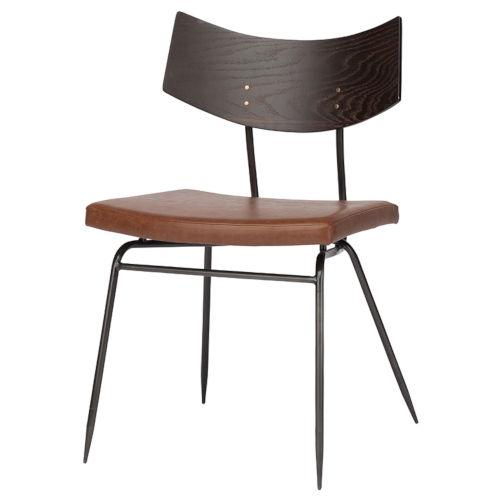Soli Black Seared Oak Dining Chair
