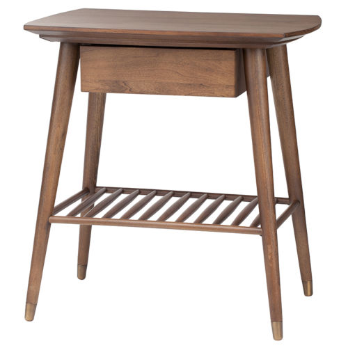 Ari Walnut 25-Inch High Side Table