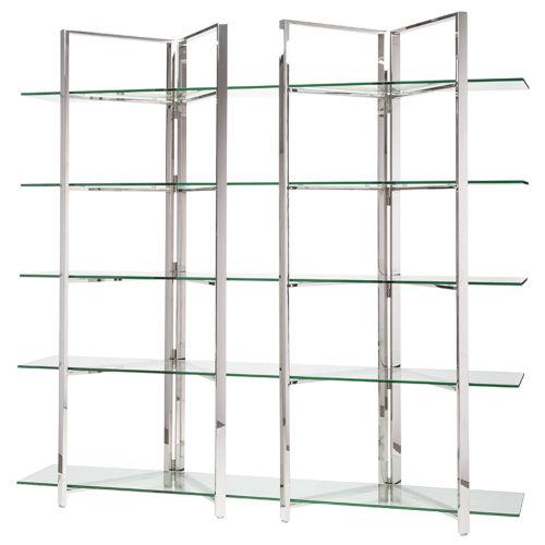 Elton Polished Silver Shelf
