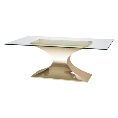 Praetorian Clear and Gold Dining Table