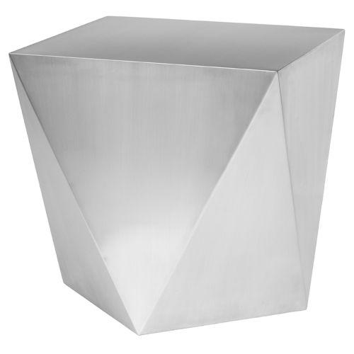 Penta Brushed Silver Side Table