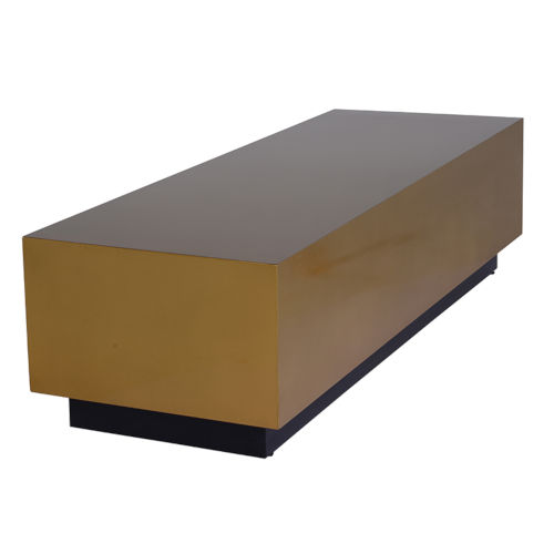 Asher Brushed Gold Coffee Table