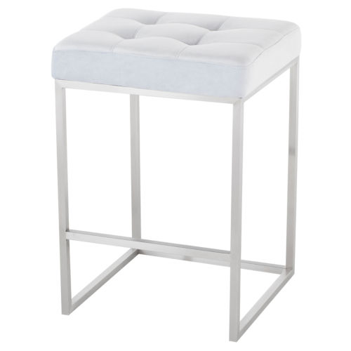 Chi Ice Blue and Silver Counter Stool