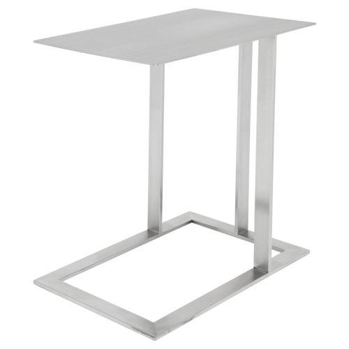 Celine Brushed Silver Side Table