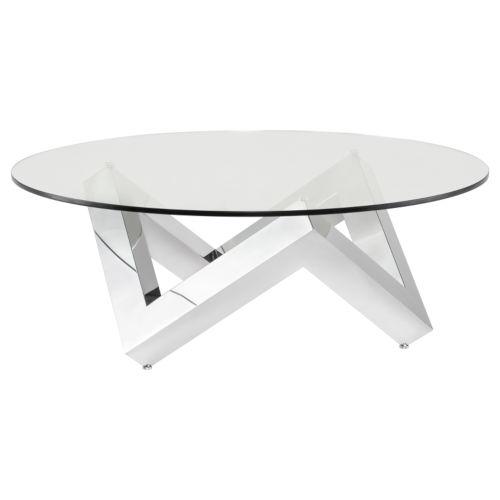 Como Polished Silver Coffee Table