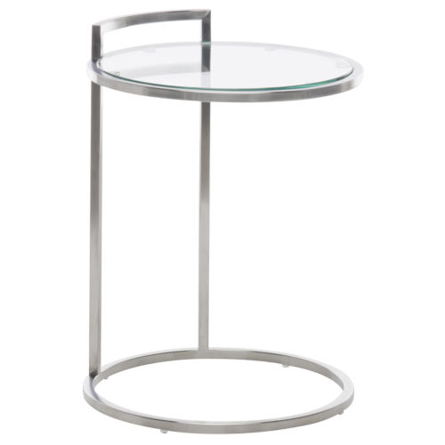 Lily Brushed Silver Side Table