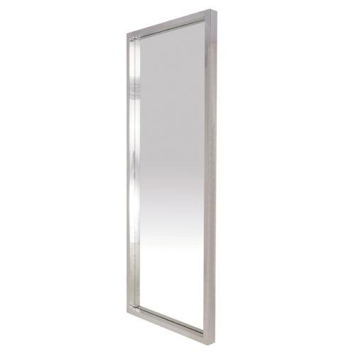 Glam Polished Silver Floor Mirror