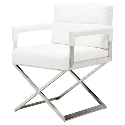 Jack White and Silver Dining Chair