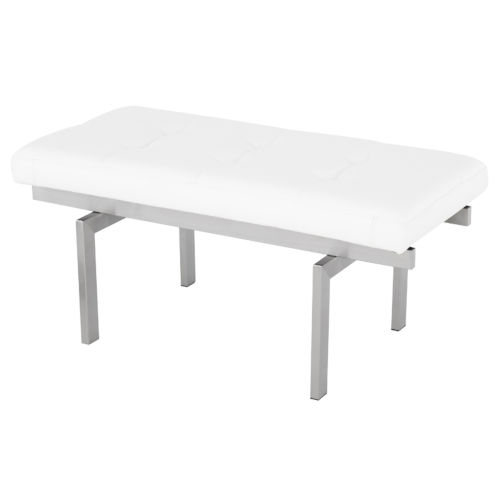 Louve White and Silver Bench
