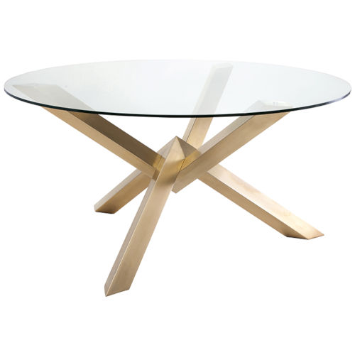 Costa Brushed Gold Dining Table