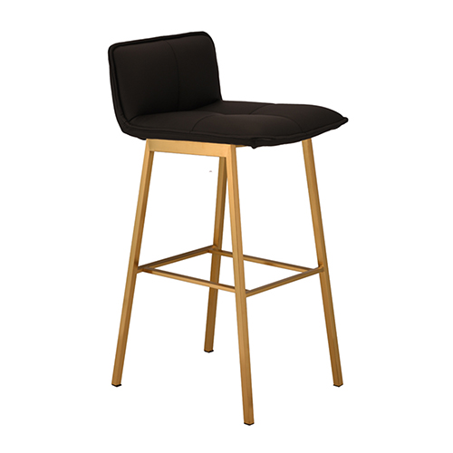 Sabrina Matte Black and Gold Bar Stool