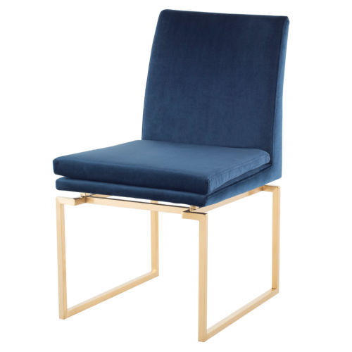 Savine Peacock and Gold Dining Chair