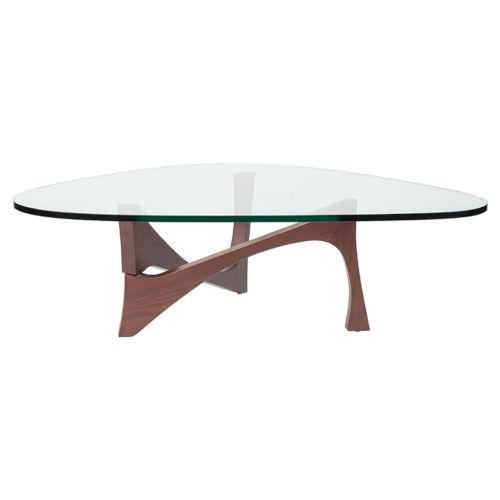 Akiro Clear and Walnut Coffee Table