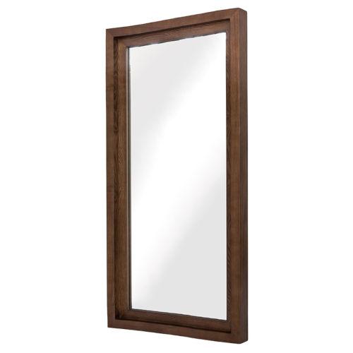 Glam Walnut Wall Mirror