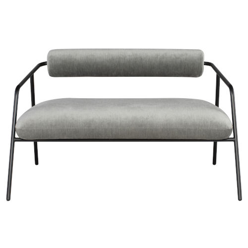 Cyrus Limestone Black Double Seat Sofa
