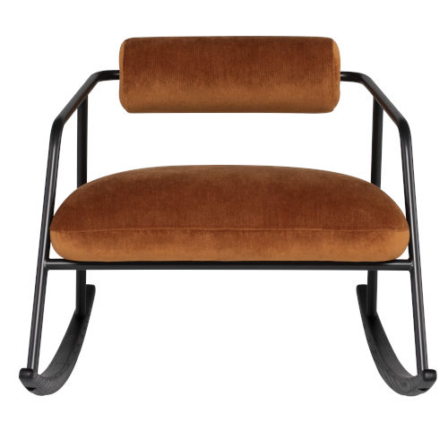 Cyrus Rust Black Occasional Chair